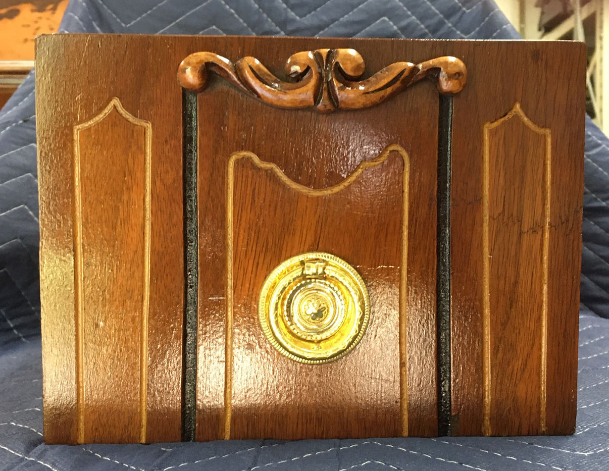 Walnut Vanity Drawer with Brass Pull