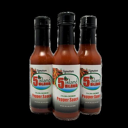 3 bottles Pepper sauce
