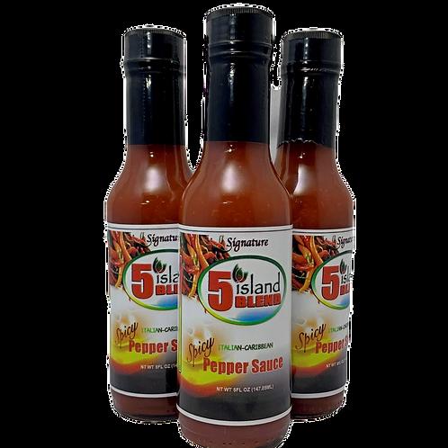 3 Bottles Signature Spicy Pepper Sauce