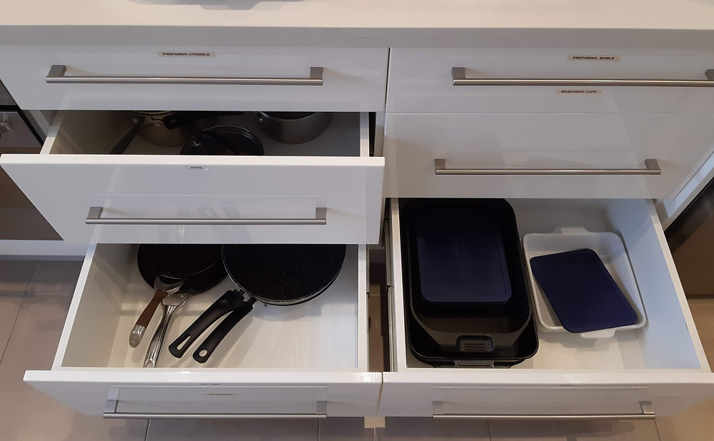drawer organising