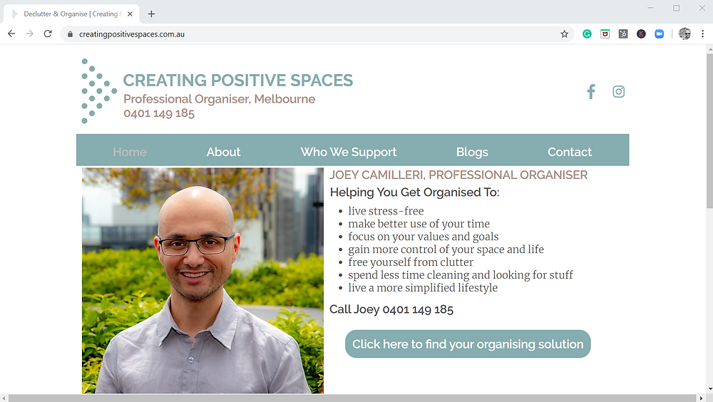 Creating Positive Spaces Homepage