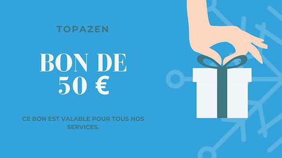 Bon Cadeau de valeur 50€