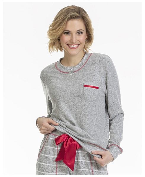 LOHE  GRIS pijama-de-mujer-lohe-vigore-r