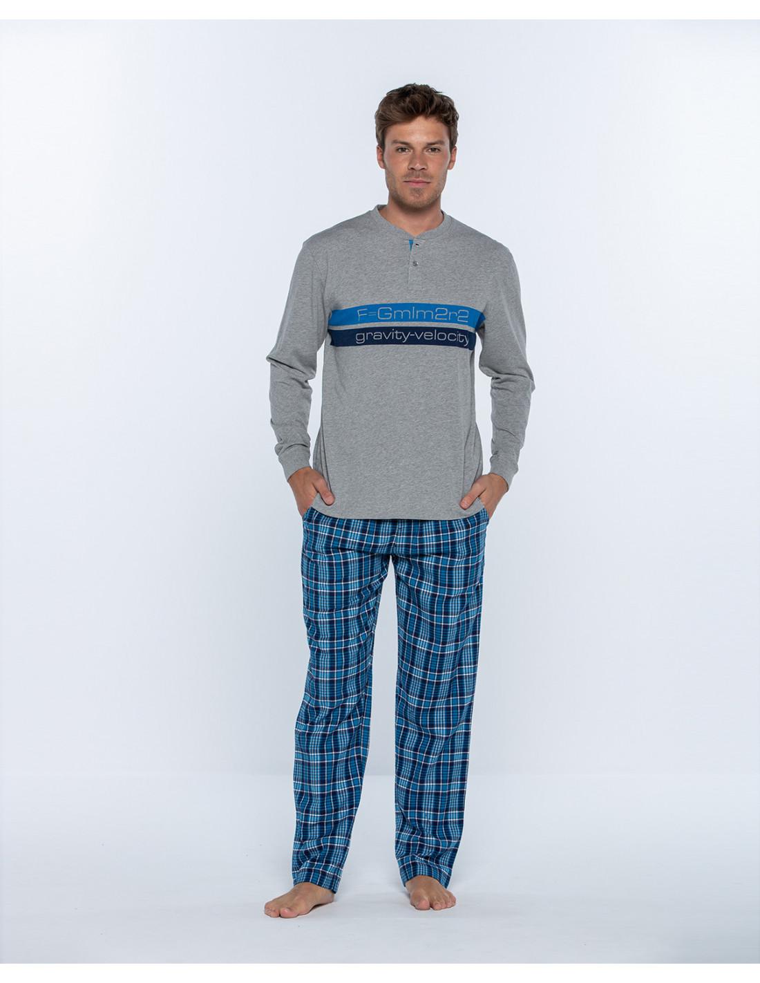 MUSAS ZARAUTZ pijama-largo-de-algodon-y-