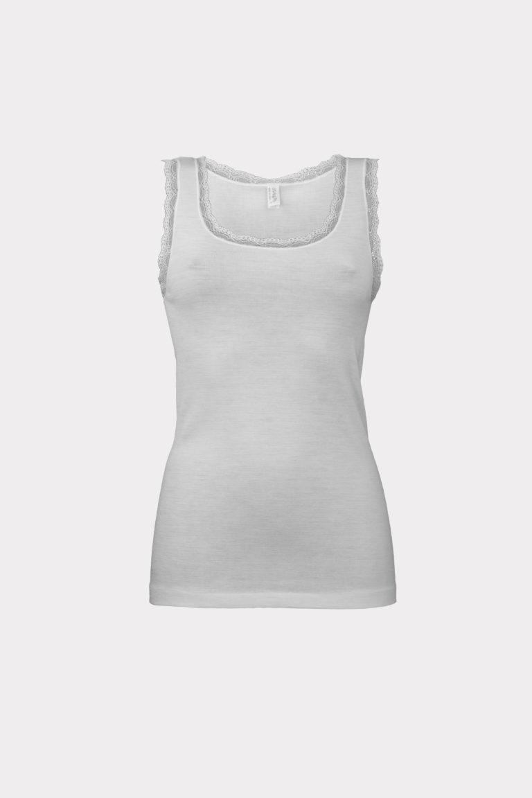 camiseta lana seda lisanza zarautz gris