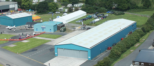 Aerial view of the Tiger Hangar
