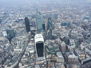 Aerial view of the City of London from a Helicopter