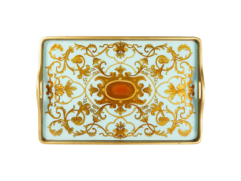 Verre Eglomise Serving Tray