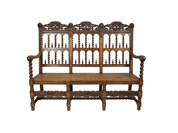 Custom Rustic Spanish Revival Bench