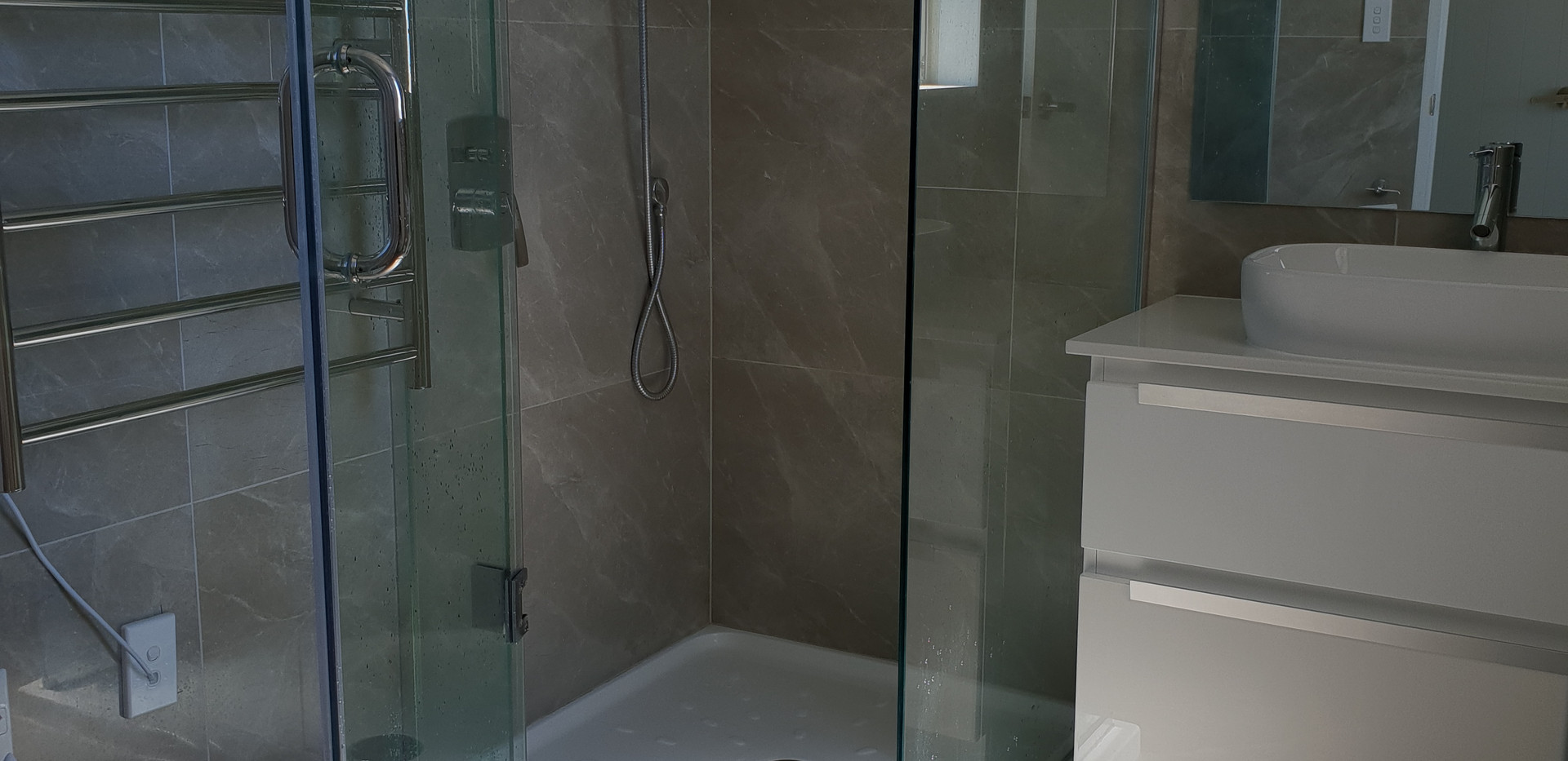 Luxury shower after clean