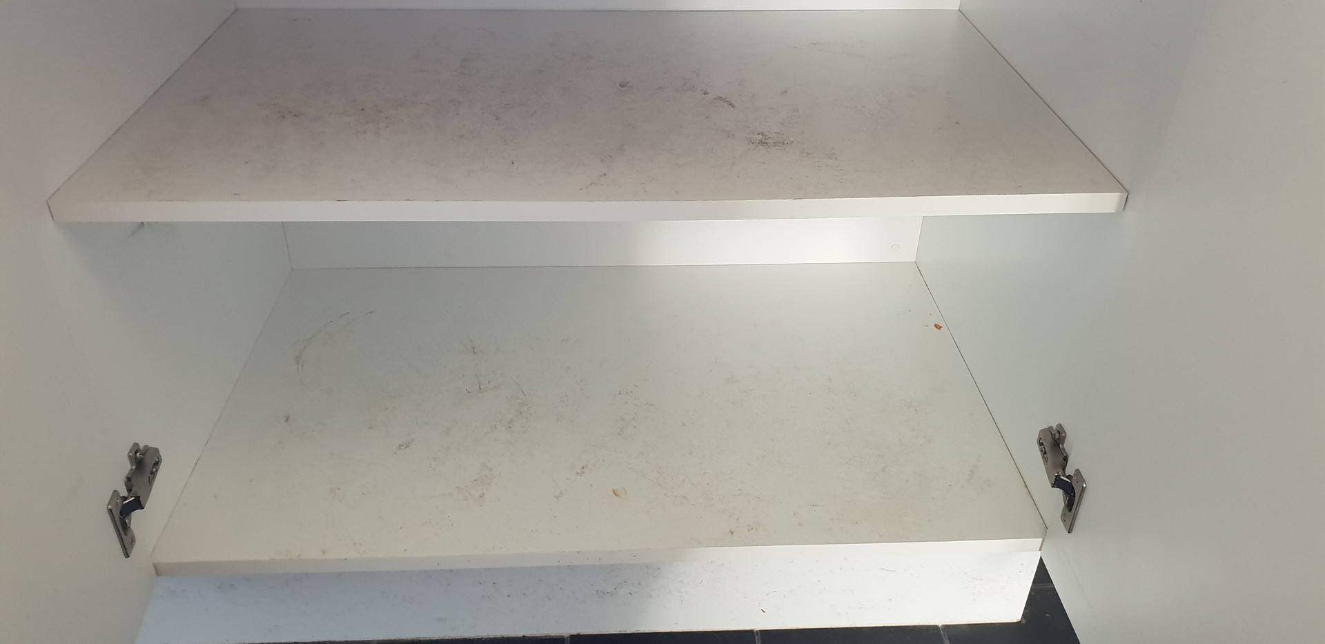 Cupboards with old stains