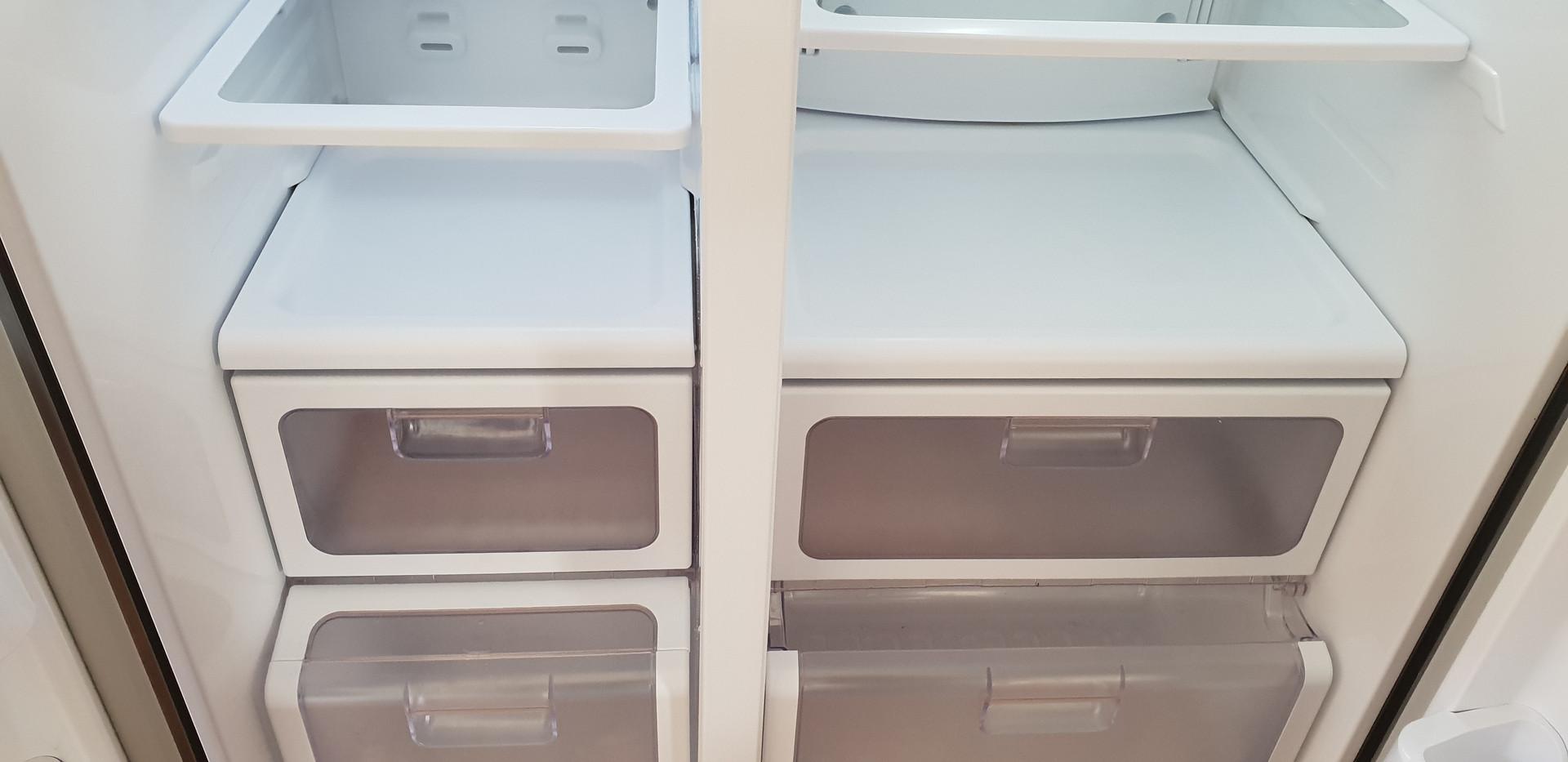 Inside fridge after clean