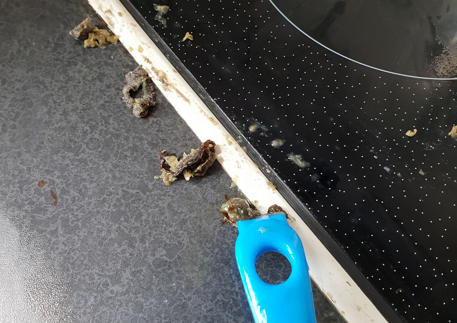 Grime on stove top