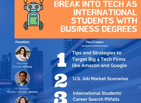 Webinar Recording & FAQs: Break into Tech as International Students