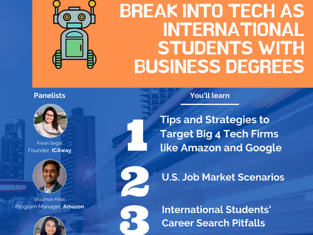 Q&As: Break into Tech as International Students