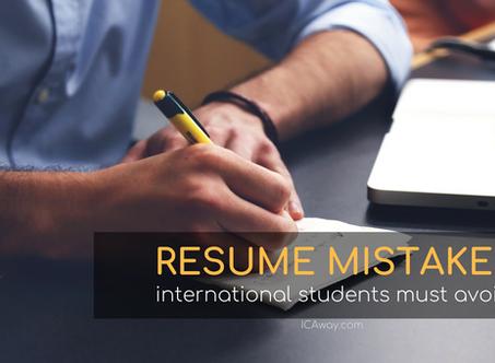 Resume Mistakes International Student Must Avoid