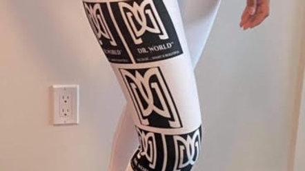 Dr. World - White Logo Leggings
