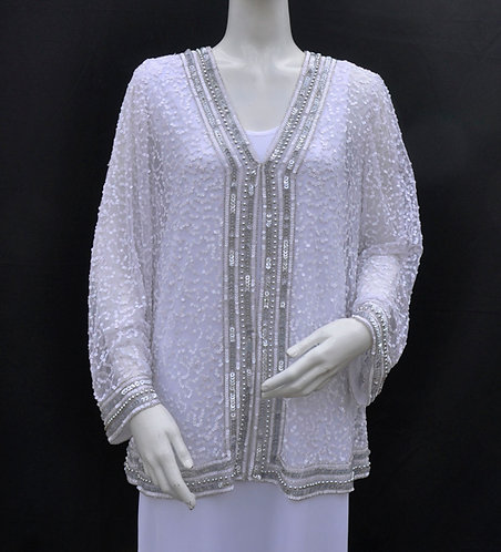 Sequin Jackets with Silver Beads