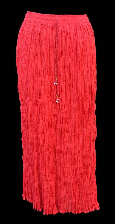 Red Broom Stick Skirt