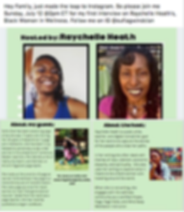 Black Women in Wellness IG Interview. .p