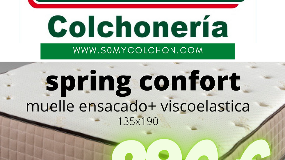 spring confort ensacado + visco