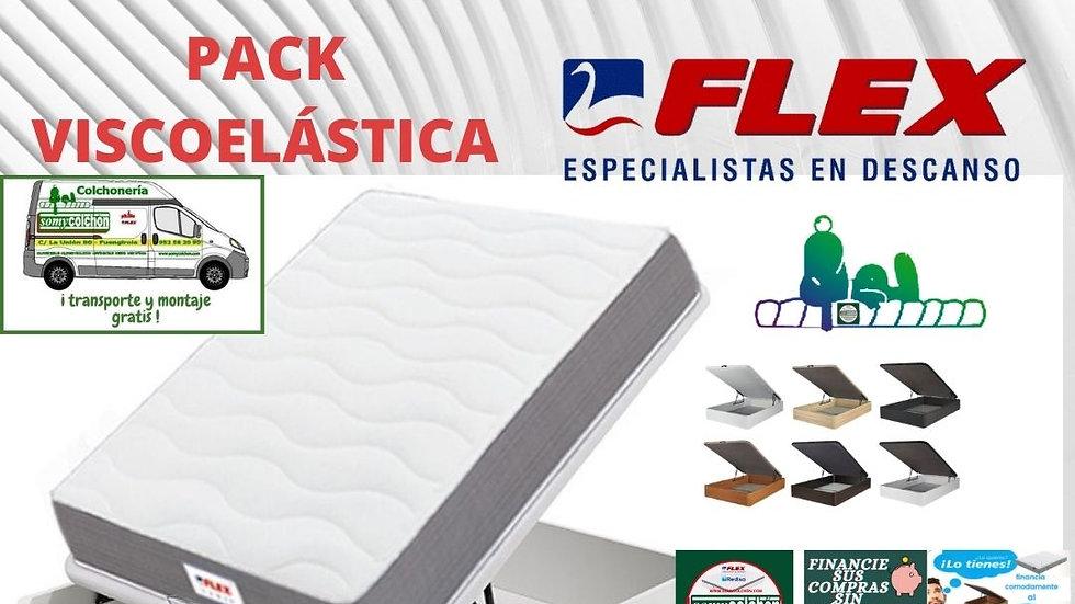 pack flex colchón+arcón