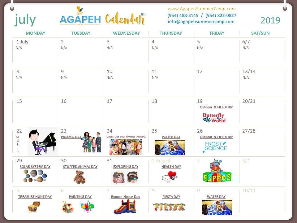 AGAPEH SUMMER CAMP July Calendar 2019.jp
