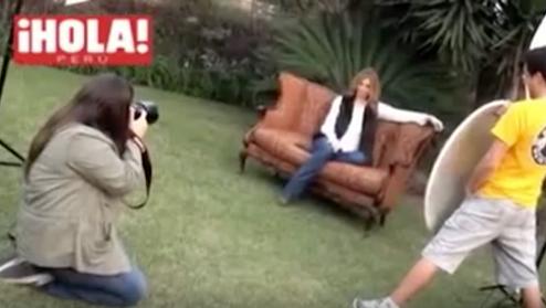Making off - de la sesión de fotos de Bárbara Cayo para la revista ¡HOLA!