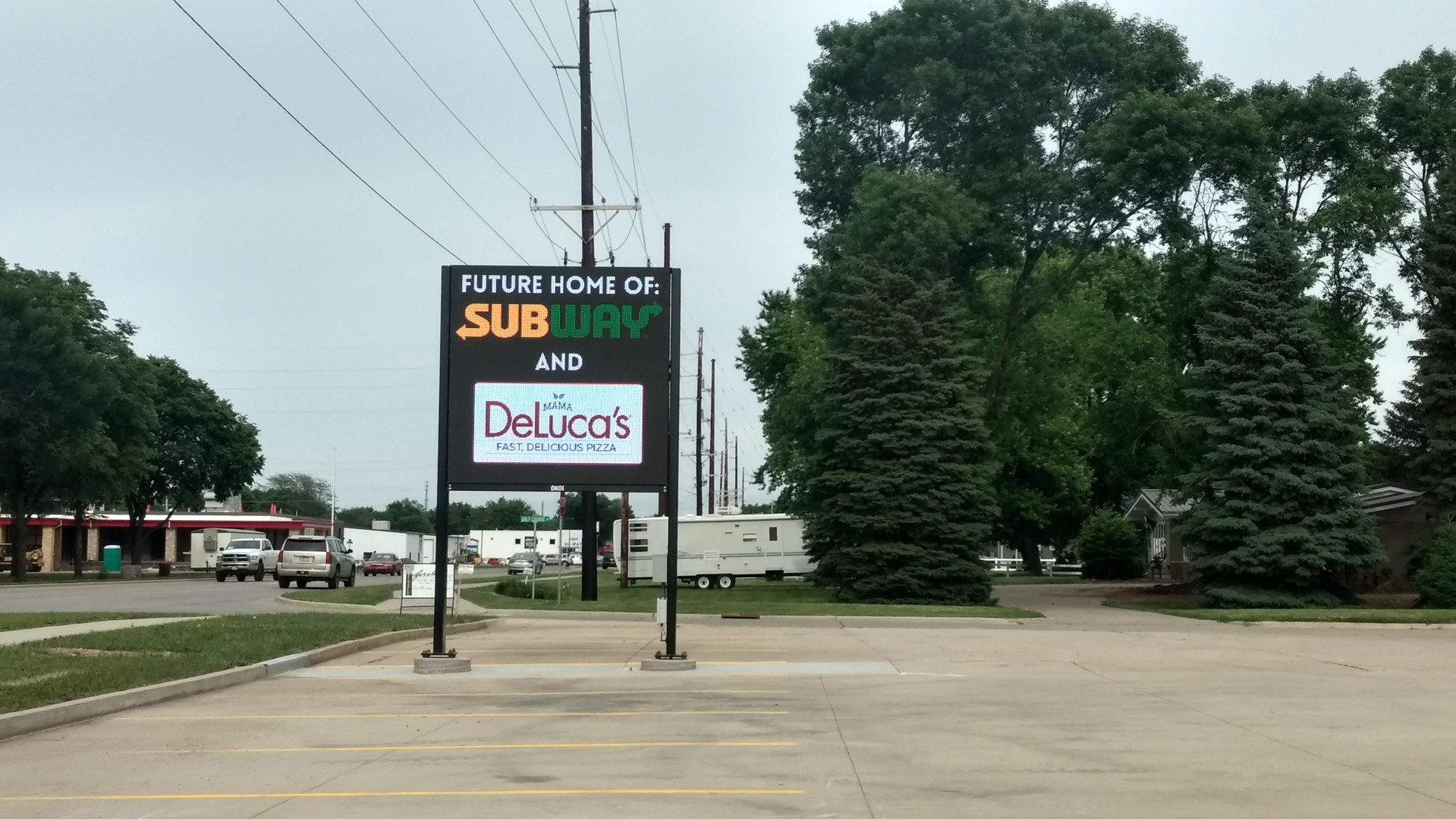 Large fixed sign - Rock Valley Digital Billboard
