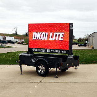 DKOI Lite portable digital sign trailer