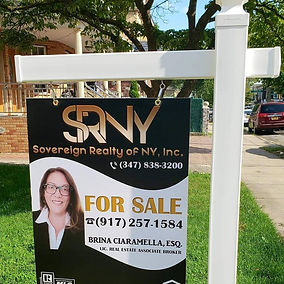 For sale sign - attorney at Law  and  Licensed Real Estate Broker