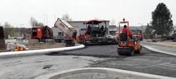Kreisverkehr Weikersheim Asphaltarbeiten