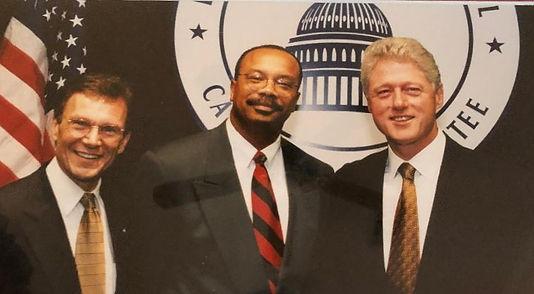 Herman Thomas Pictured With President Bi