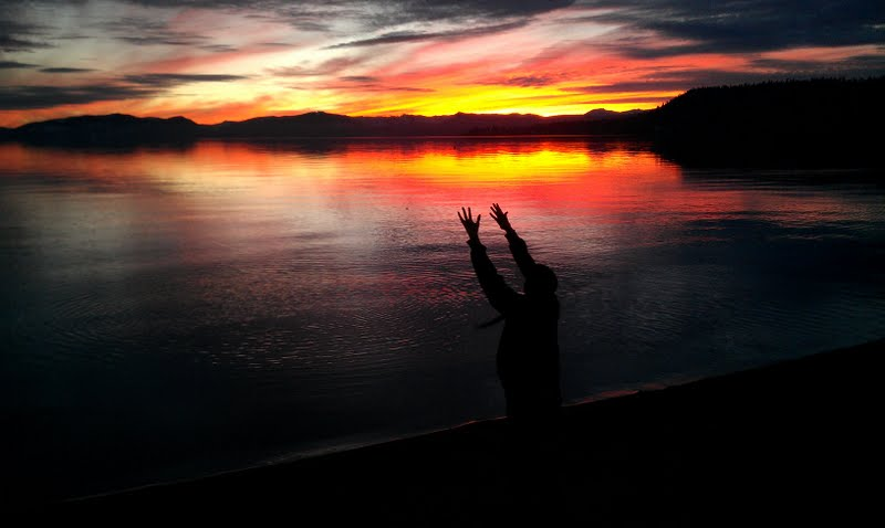 Cheryl Hansens sunset - Lone Eagle - Incline Village Lake Tahoe - Our Angel - sign from Heaven - not