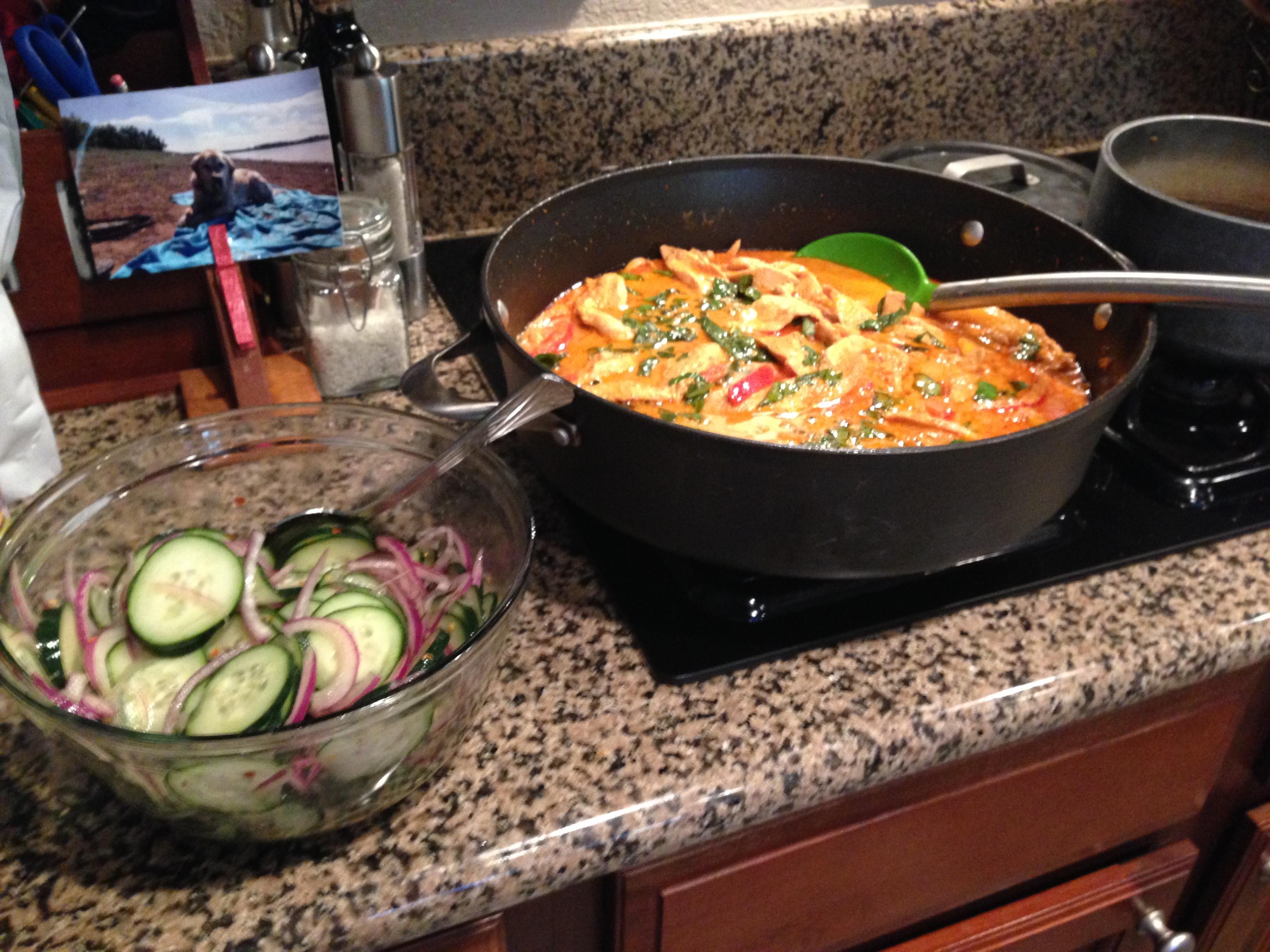 Thai shrimp curry with cucumber salad - gluten free - Paleo - healthy dinner recipe - Triumph Over H