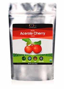 Acerola cherry powder, supplement, highest level of vitamin C, best vitamin C, non GMO, organic, optimally organic, superfood, cold and flu prevention