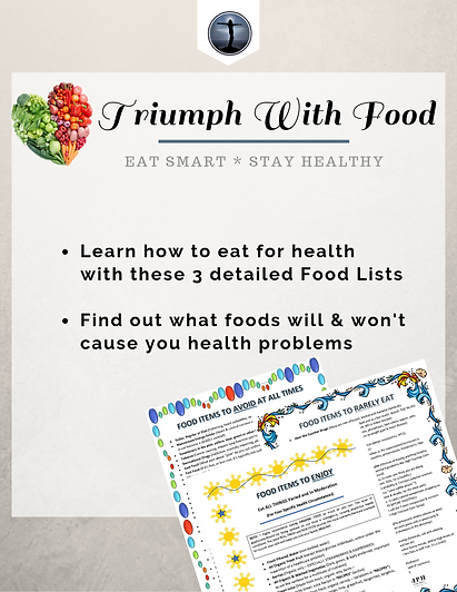 Triumph Over Health Free Food Lists for