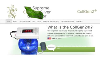 Ionic colloidal silver, collgen2, silver water, machine, distilled water, NASA silver machine, generator