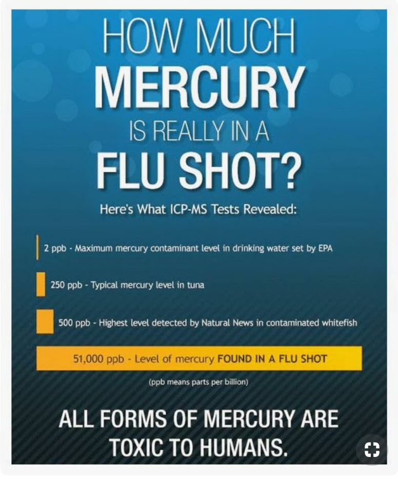 How much mercury is in a flu shot - is mercury toxic - vaccine toxins - does a flu shot help