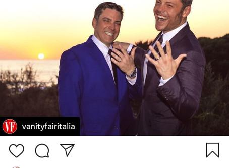 Tiziano Ferrocomparte su matrimonio.