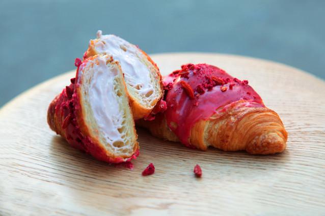 Raspberry Glazed Cornetti