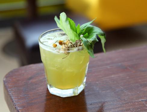 Chamomile-Basil Lemonade