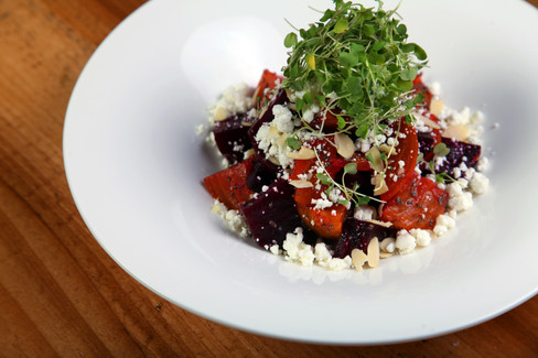Roasted Red and Golden Beets Salad