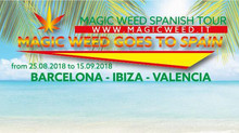 "MAGIC WEED AMSTERDAM GOES TO SPAIN ""SUMMER 2018"" from 25.08.2018 to 15.09.2018 Cities: BAR"