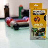 ProtectVir aplicado em objetos e aparelhos de academia