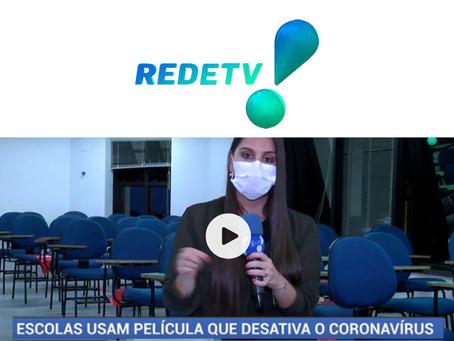 Escolas de São Paulo começam a usar película contra a Covid.