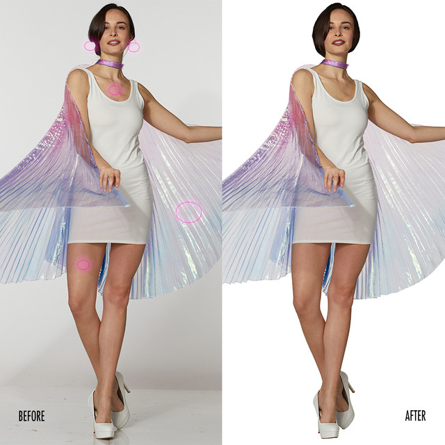 Spencer Gifts-Spirit Halloween: Fairy Fabric Wings Costume