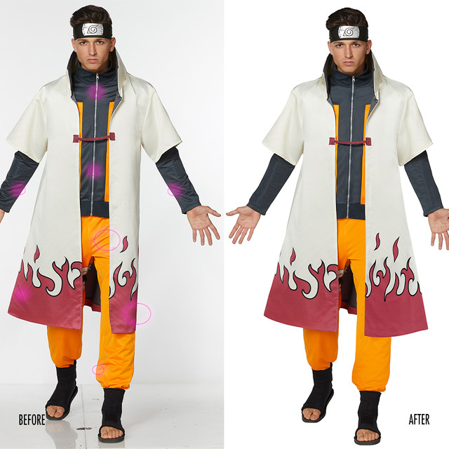 Spencer Gifts-Spirit Halloween: Naruto Hokage Anime Costume