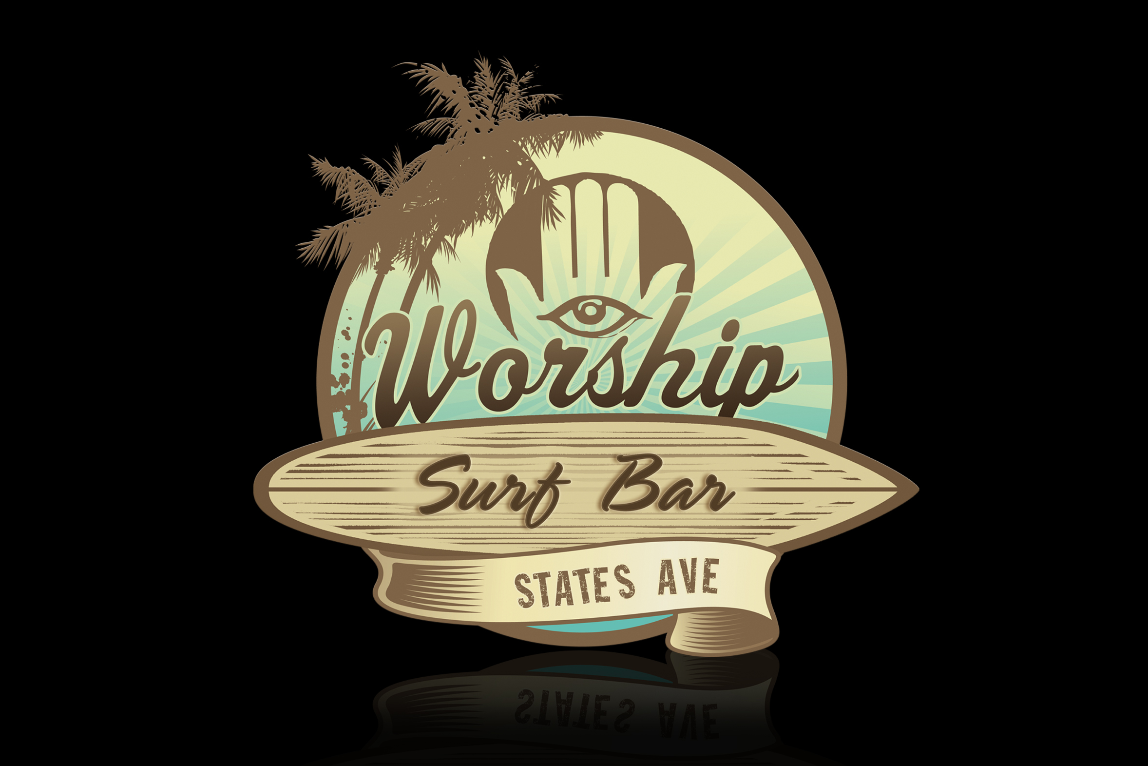 BRANDING: Worship Surf Bar Logo
