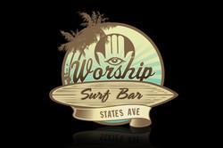 BRANDING: Worship Surf Bar Logo